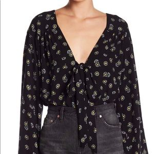 FREE PEOPLE Bell Sleeve Body Suit